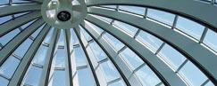 The cupola glass roof of the HSG's Executive Campus.